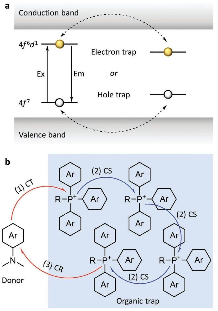 唐本忠院士團隊《先進材料》:1+1>2 ,三苯基季銨磷做陷阱,有機發光材料發光時長高達7小時