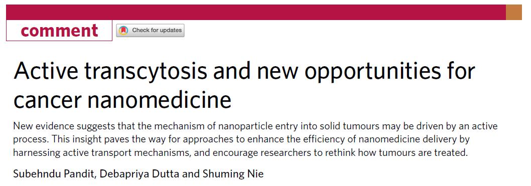公认的EPR效应翻车了,一天内连发三篇《Nature Materials》:肿瘤治疗的挑战和机遇