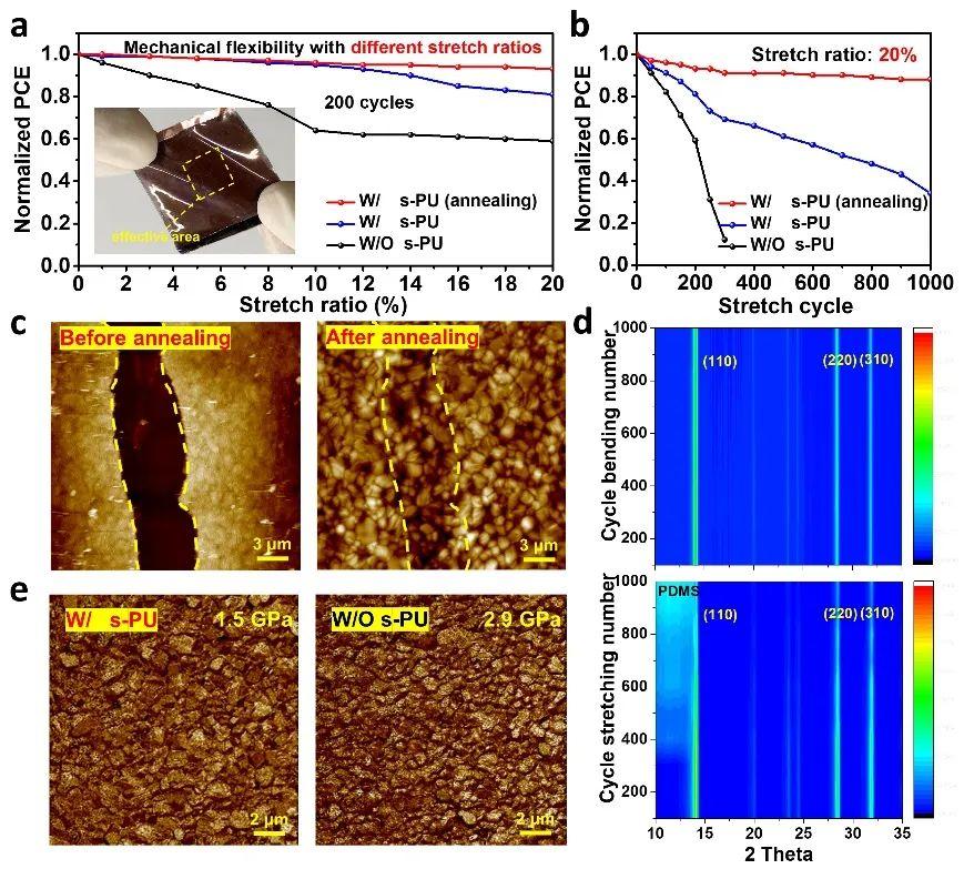 陳義旺、胡笑添團隊《德國應化》:實現具有機械自修復功能的可拉伸鈣鈦礦太陽電池