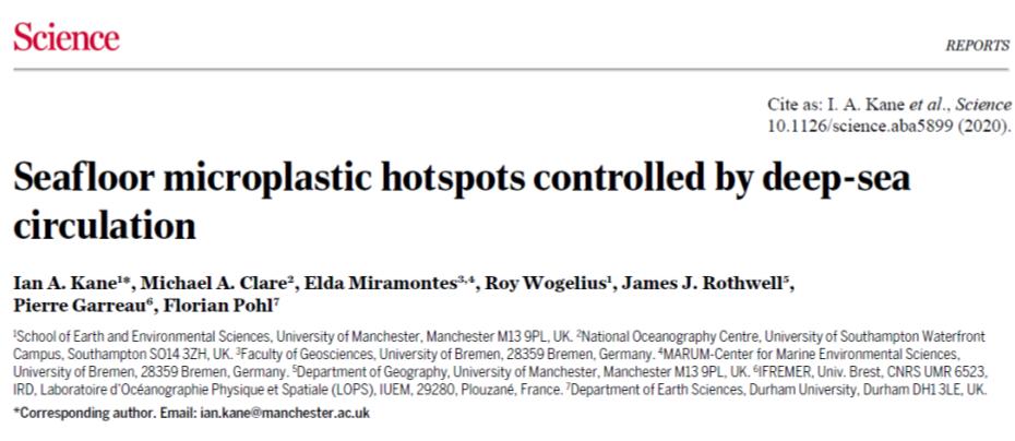《Science》關註:海底微塑料含量達到前所未有之高度