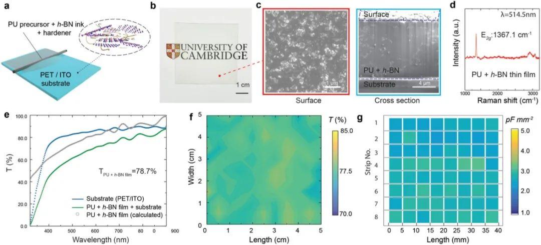 《AFM》六方氮化硼增強的光學透明聚合物電介質油墨,可用於印刷電子