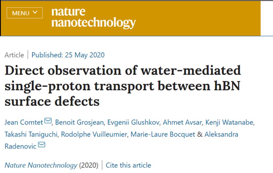 《Nature》子刊:科学家首次直接观察到氢质子沿着液-固界面移动