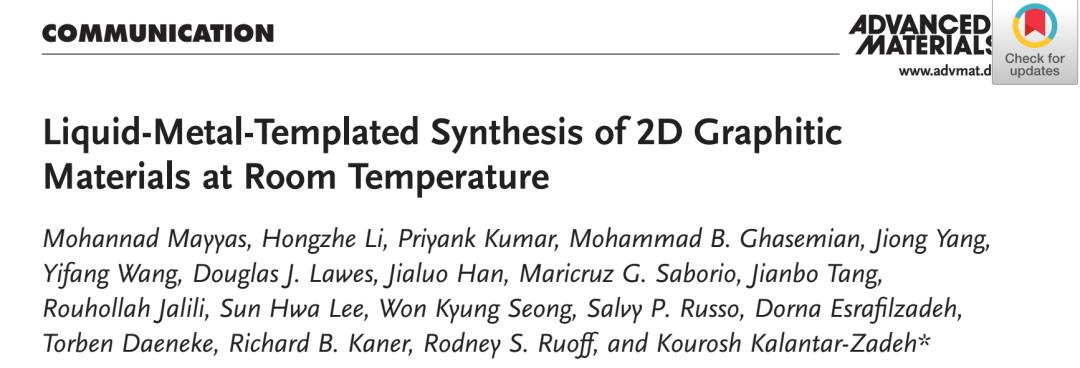 繼Science之後,再發AM:室溫下電化學合成二維石墨材料