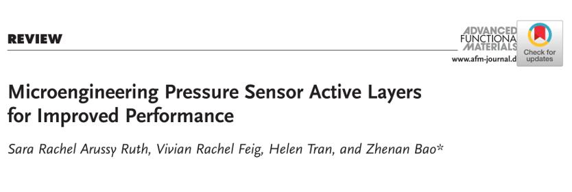 斯坦福大学鲍哲南院士《AFM》综述:教你如何设计压力传感器的微结构