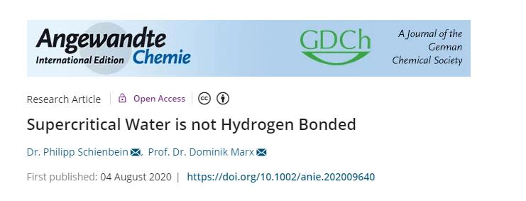 改写教科书!首次证实:在这种状态下水不存在氢键?!