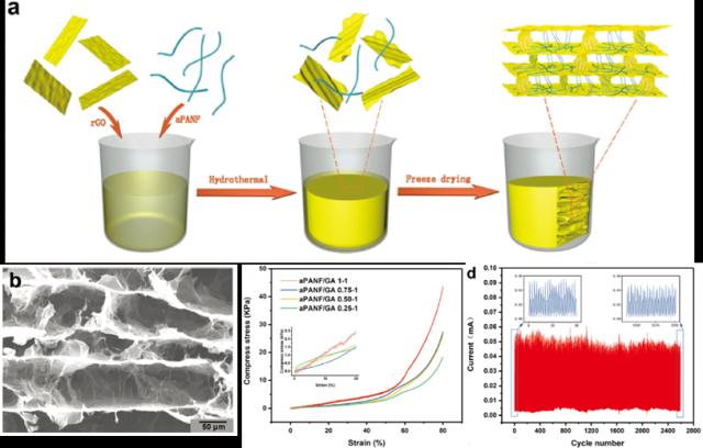 北京化工大学潘凯《AFM》:新型具有3D互连的分层微观结构的纳米纤维增强石墨烯气凝胶