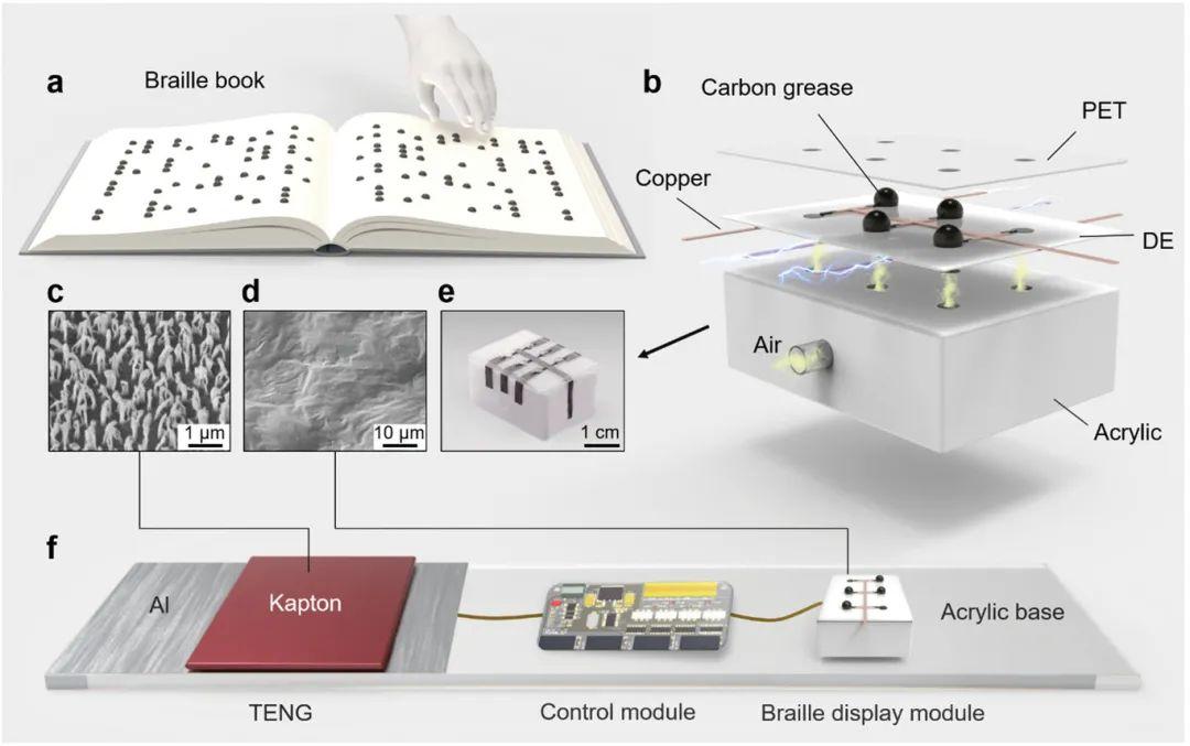 纳米能源所陈翔宇和李舟《AFM》:TENG助力可擦写盲文电子书