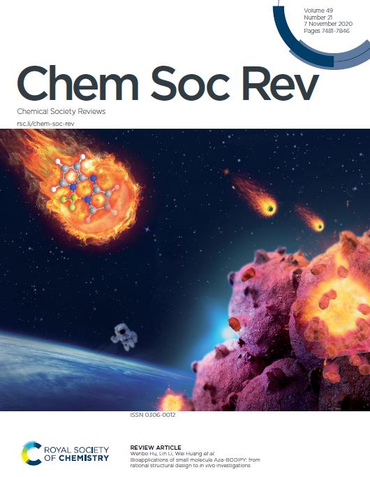 西北工业大学黄维院士、李林教授和胡文博教授团队《CSR》封面:Aza-BODIPY染料分子综述文章