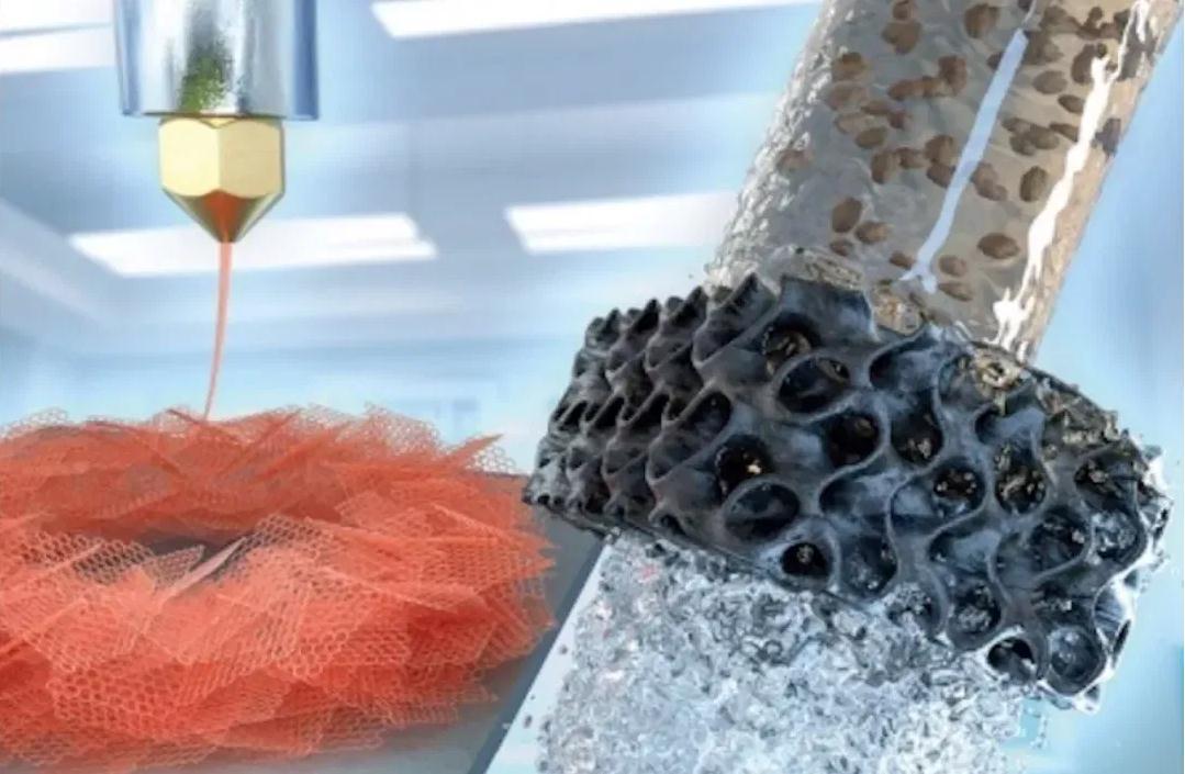 新方法让3D打印石墨烯气凝胶打造出能反复使用的水过滤器