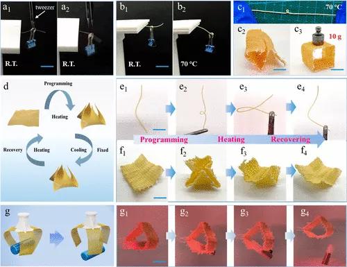 Kevlar 气凝胶有机相变纤维弯曲刚度导向制造-3