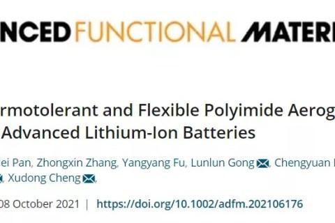 首次实现聚酰亚胺气凝胶隔膜在锂离子电池中应用